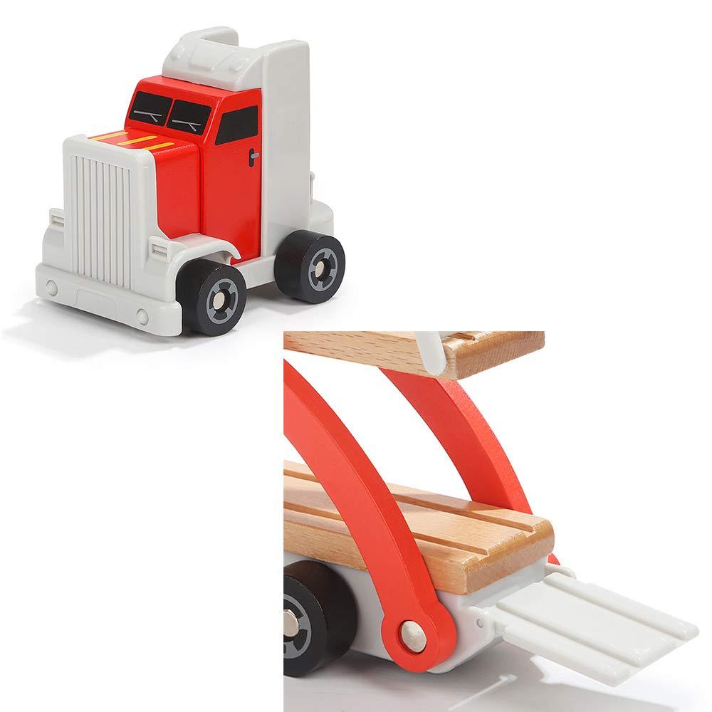 LXWM Holzspielzeug LKW Transport Carrier Engineering Fahrzeug LKW Kinder Baby Spielzeug Modell Baby Kinder Geschenk Auto Für Kinder d252ce