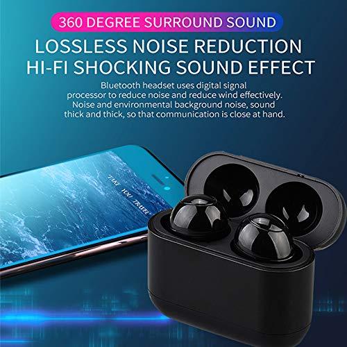 (Springdoit Mini Stereo Earset Wireless Bluetooth Headphone TWS Bass Bluetooth Music with Charging Box Pop for iPhone Huawei)