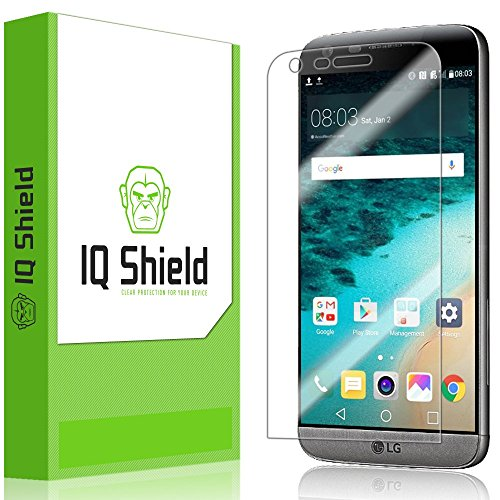 Price comparison product image LG G5 Screen Protector, IQ Shield LiQuidSkin (2-Pack) Full Coverage Screen Protector for LG G5 HD Clear Anti-Bubble Film - with