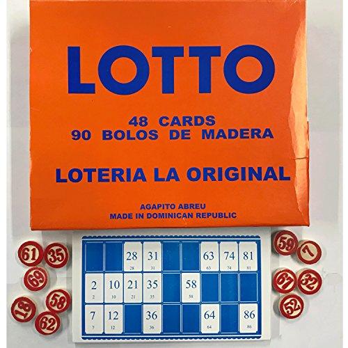 Lotto Loteria La Original Wooden Number