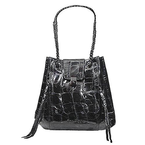 Eric Javits Luxury Fashion Designer Women's Fashion Handbag - Mini Leigh - Black by Eric Javits