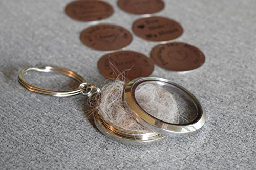 Pet Hair Memorial Keychain, Loss of a Pet, Glass Floating Locket, Fur Memorial Locket, Pet Loss Keychain Locket, Memorial (Pet Gem)
