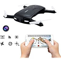 JJR/C H37 RC Quadcopter Pocket Selfie Foldable Drone 4CH 6Axis Headless Mode with Wifi FPV 2MP Camera Altitude Hold Helicopter Toys