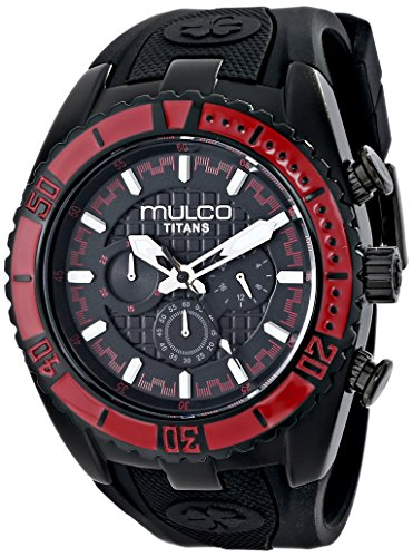 MULCO Unisex MW5-1836-065 Titan Wave Analog Display Japanese Quartz Black Watch