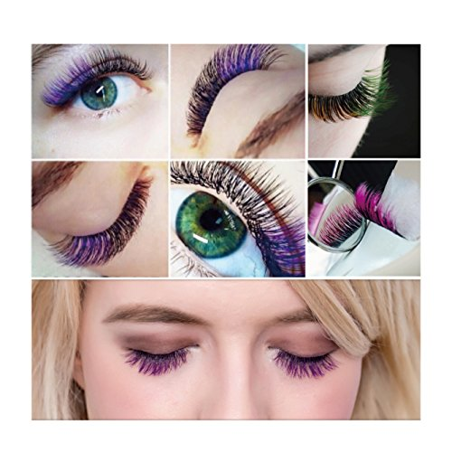 b94ee3d09f3 ... BEYELIAN Cala Lilly Lashes Green Color Macaron Lashes 0.07mm Thickness  C Curl Mix Length Colored ...