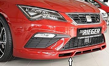 Rieger Frontal Alerón Labio Negro Mate para Seat Leon FR (5 F)/Cupra (5 F): 01.17 (a Partir de Facelift): Amazon.es: Coche y moto