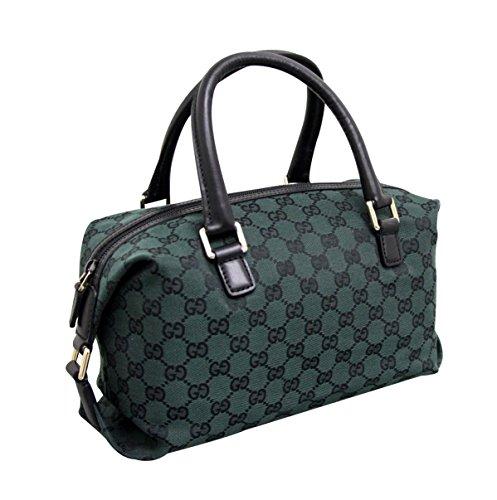 Gucci Dark Green Canvas Joy Boston Handbag Bag 272375 - Handbags Women Gucci