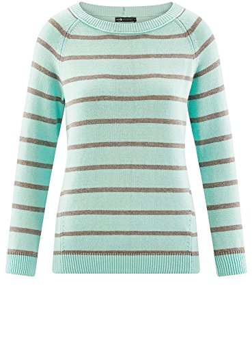 a Righe Maglione Largo Donna oodji 7323s Collection Turchese HvqSOnI