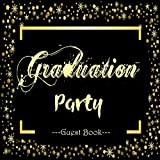 Graduation Party Guest Book: Gold And Black Large