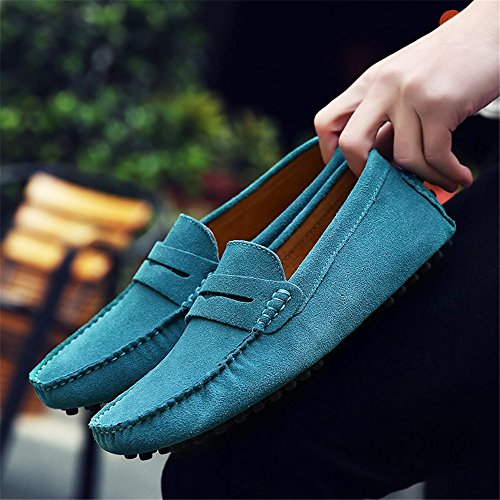 Slip Boat Men's Eagsouni Penny Maccasins Loafers On Suede Blue Shoes Dress Leather Fashion Flats Driving Casual Slippers Shoes UqXcCtw