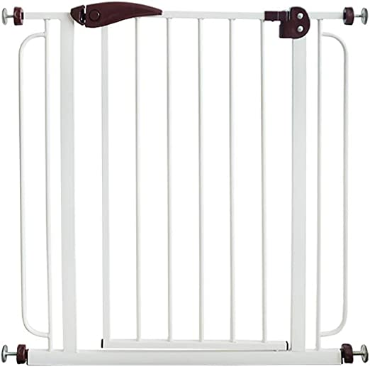 Puerta de Seguridad para niños Barandilla de Escalera Valla para Mascotas Cerca de Perro Puerta de Aislamiento Perforación Gratuita (Color: Blanco): Amazon.es: Hogar