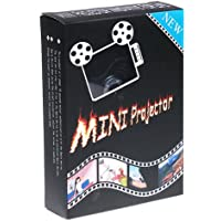 Kingzer Portable Mini Multimedia Pocket Cinema Pico Projector for iPod iPhone iPad Black