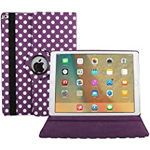 iPad Air 2 Case Cover,HuLorry 360 Degree Rotating Stand Case Folio Case Creative Drop Protection Rugged Protective PU Leather Wave Point Case for iPad Air 2 9.7 inch Tablet
