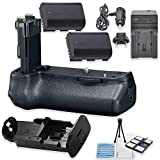 BG-E21 Replacement Battery Grip Bundle for Canon EOS 6D Mark II DSLR Camera with 2 Replacement LP-E6 Batteries + AC/DC Multi Purpose Travel Charger + Camera Starter Kit from Eternal Photo