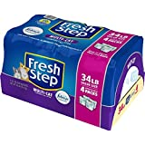 Fresh Step Multi-Cat Scented Litter with the Power of Febreze - Clumping Cat Litter - 34 Pounds - Resealable 4 Packs - 31601