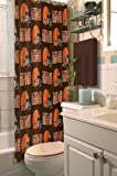 Cleveland Browns COMBO Shower Curtain, Matching Shower Curtain Rings & Set of (Four) Appliqué Bath Towels with Team Logo - Decorate your Bathroom & SAVE ON BUNDLING!