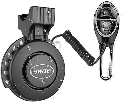 Timbre de bicicleta eléctrico, carga USB, impermeable, 120 db, invisible, campana de bicicleta, campana de ciclismo, alarma para bicicleta de carretera, bicicleta de montaña, negro: Amazon.es: Deportes y aire libre