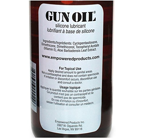 Gun Oil Premium Silicone Based Personal Lube Lubricant Fortified with Special Botanicals Safe for Toys. (+ Free Lubricant) : Net Wt 32 Oz (Pack of 2) by Multiple