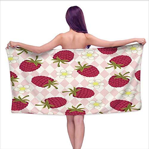 Tankcsard Bath Towels Egyptian Cotton Raspberry Pink Seamless Wallpaper,W12 xL35 for -