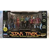 Exclusive Toys R Us Set of 1994 Playmates, Inc. Playmates Paramount Pictures Star Trek Starfleet Officers Collectors Set Stock No. 6190 Action Figure Set Commander with Action Figures of Benjamin Sisko, Major Kira Nerys, Catain James T. Kirk, Mr. Spock, Captain Jean Lux Picard, Captain Jean Lux Picard (Exclusive Toys R Us Star Trek Action Figure Set) by Playmates