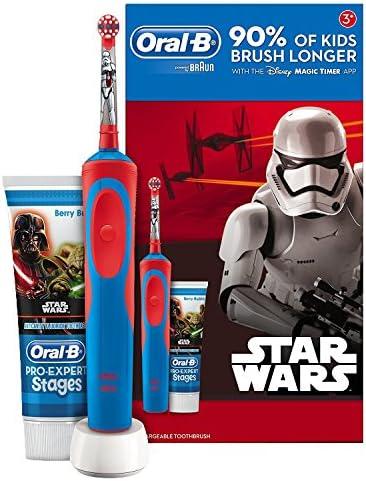 Oral B Star Wars – elektrischen Bürste, Akku und Zahnpasta Oral B, blau und rot