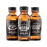 CanYouHandlebar Traditional Beard Oil: Initiative, Wisdom and Temperance Scented Set, Natural Beard & Goatee Conditioners