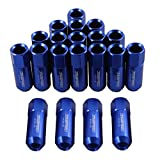 Generic JDMSPEED Blue 60MM Aluminum Extended Tuner Lug Nuts For Wheel Rims M12X1.5 20PCS