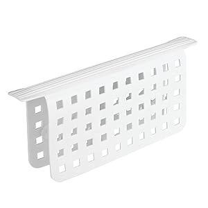 InterDesign Euro Kitchen Sink Divider Protector Mat - White