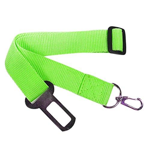 LtrottedJ New Adjustable Dog Pet Car Safety Seat Belt,Restraint Lead Travel Leash (Green) ()