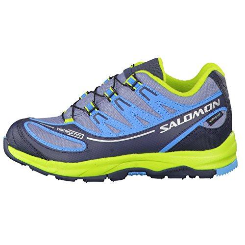 Salomon XA PRO 2 WP Zapatos running Niños gris, azul, verde