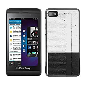 Be Good Phone Accessory // Dura Cáscara cubierta Protectora Caso Carcasa Funda de Protección para Blackberry Z10 // White Black Wall Brick Rustic City Street Graffiti