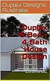 Duplex 6 Bed + 4 Bath House Design: Australian home design  269.6du sample pack showing the floor layout and front façade (Duplex House Design)