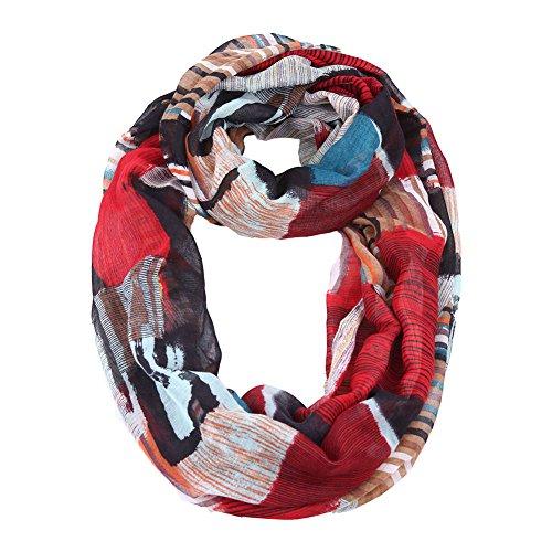 MissShorthair Women's Plaid Infinity Scarf Lightweight Tartan Neck Scarves