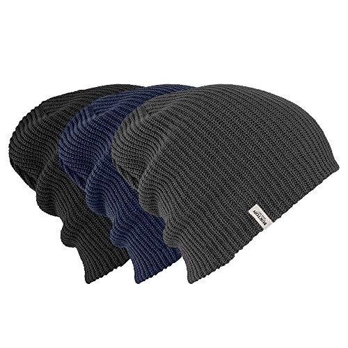 Burton Black Hat - Burton Unisex DND Beanie 3 Pack, True Black/Trocadero/Mood Indigo, One Size