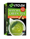 Ito En Matcha Green Tea Ginger, 20 Count (Pack of 8), Zero Calories, No Artificial Sweeteners, Caffeinated, Good Source of Vitamin C and Antioxidants, BPA Free
