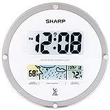 sharp atomic - SHARP Atomic Digital Wall Clock with Wireless Weather Display (White)