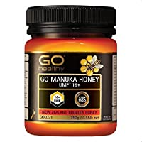 100% Pure NZ Manuka Honey 16+ (better than 15+) MGO 575+ 250g Medicinal Strength Certified UMF 16+ Go Healthy Premium New Zealand Manuka Honey | Natural Cold & Flu Remedy | Supports Immune System | Natural Superfood | Supports a Healthy Lifestyle