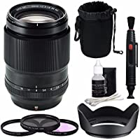 Fujifilm XF 90mm f/2 R LM WR Lens + 52mm 3 Piece Filter Set (UV, CPL, FL) Bundle 1