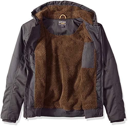 Ariat - Vêtements de Travail d'extérieur Rebar Duracanvas à Capuche pour Hommes, X-Large x Tall, Rebar Gray