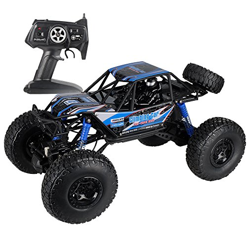 10 Electric 4wd Truck (MZ RC Cars All Terrain Remote Control High Speed Vehicle 1:10 Scale 2.4Ghz 4WD Eletric RC Toys Off Road Oversized Bigfoot Monster Truck, Best Gift for Kids and Adults - Blue)