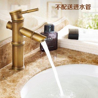 XBR alle Messing Waschbecken Wasserhahn, Zeichnen Bambus Wasserhahn, Hand Waschbecken Wasserhahn B bingru-Faucet