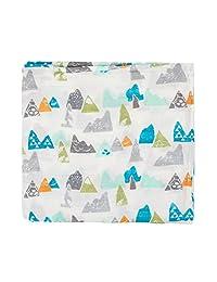 Miracle Baby Sleeping Swaddling Blanket Wrap Cotton Muslin Receiving Blanket New Mom Nursery 43''x 43''(Mountains)