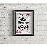 MY CHEMICAL ROMANCE Inspired Poster Print | 11x14 | Lyric Art | Sing | Home Decor | Wall Art