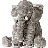Large Size Super Soft Plush Elephant Doll Pillow, Stuffed Animal Plush Toy for Kids, Grey