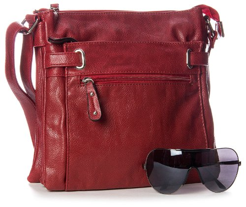 Big Handbag Shop - Shoulder Bag For Men Synthetic One Brown - Medium So