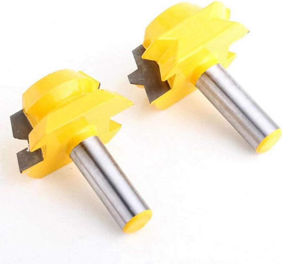 8mm Gehrungsfr/äser Router Bit 1 Paar 22,5 Grad Verleimfr/äser 12,7mm 8mm Schaft