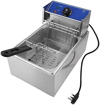 iCoco 6 L, acero inoxidable – Freidora eléctrica con tapa extraíble Control de Temperatura Aero Fryer 2500 W Fácil de Limpiar Plata: Amazon.es: Hogar