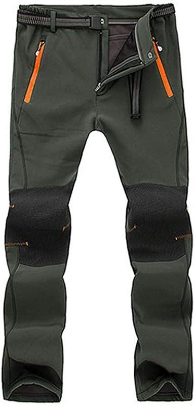 VPASS Pantalones para Hombre,Pantalones de Trekking Softshell Pantalones Impermeables Resistente Pantalones de Escalada Trabajo Pantalones Trabajo ...