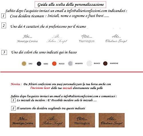 Borsello in pelle uomo artigianato italiano l20xh24xp4 cm cm Mod : ROUTE CILIEGIO