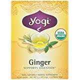 YOGI TEAS Organic Ginger Tea, 16 Bags, 1.12-Ounce